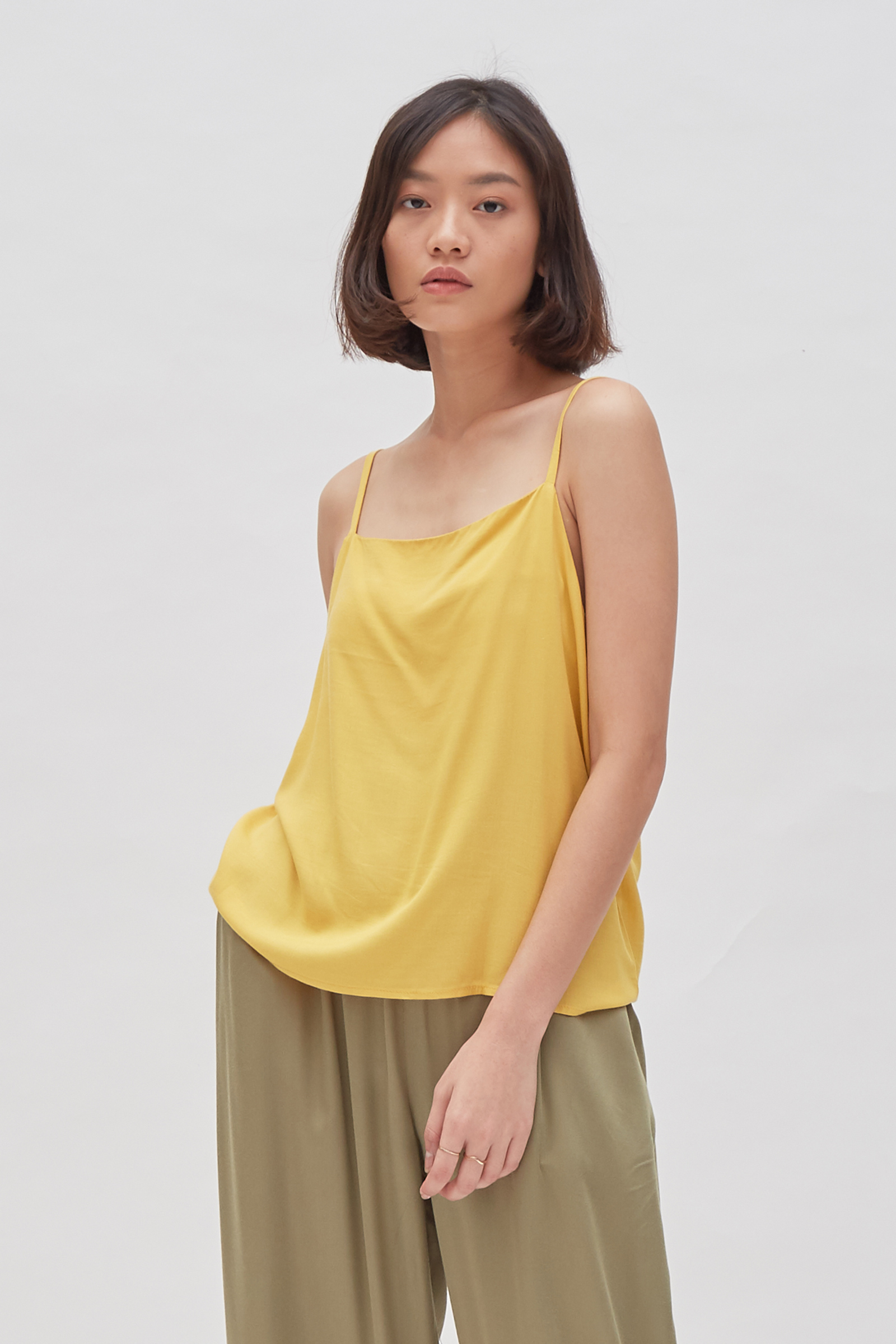 Shopatvelvet Weekend Tank in Yellow