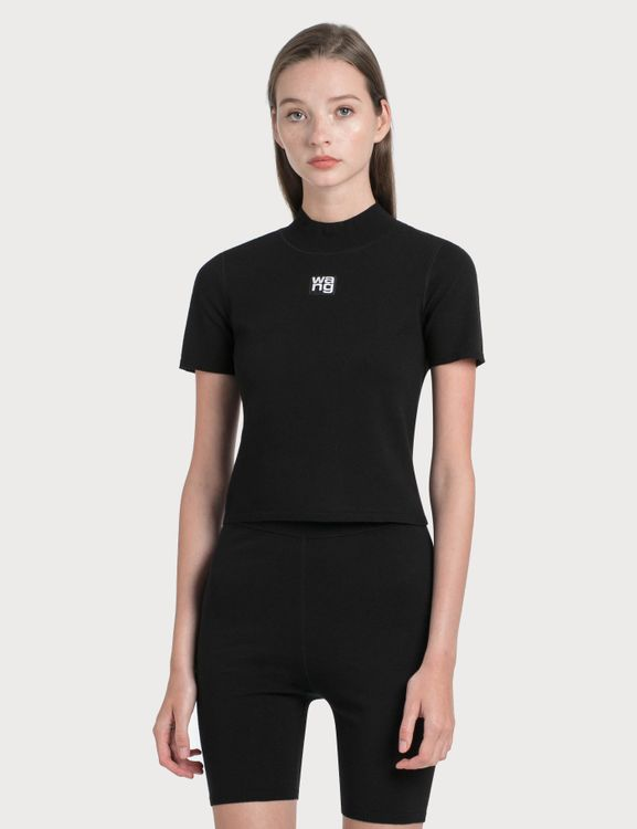 Alexander Wang.T Bodycon Mock Neck Top