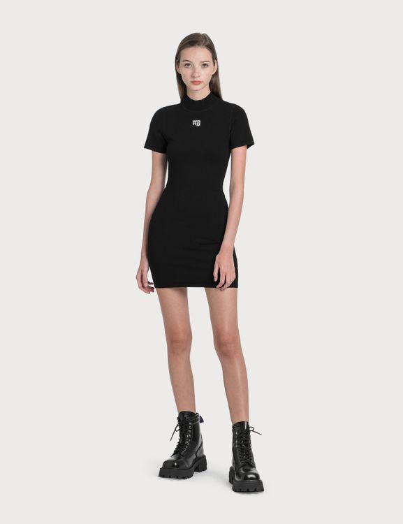 Alexander Wang.T Bodycon Logo Patch Dress