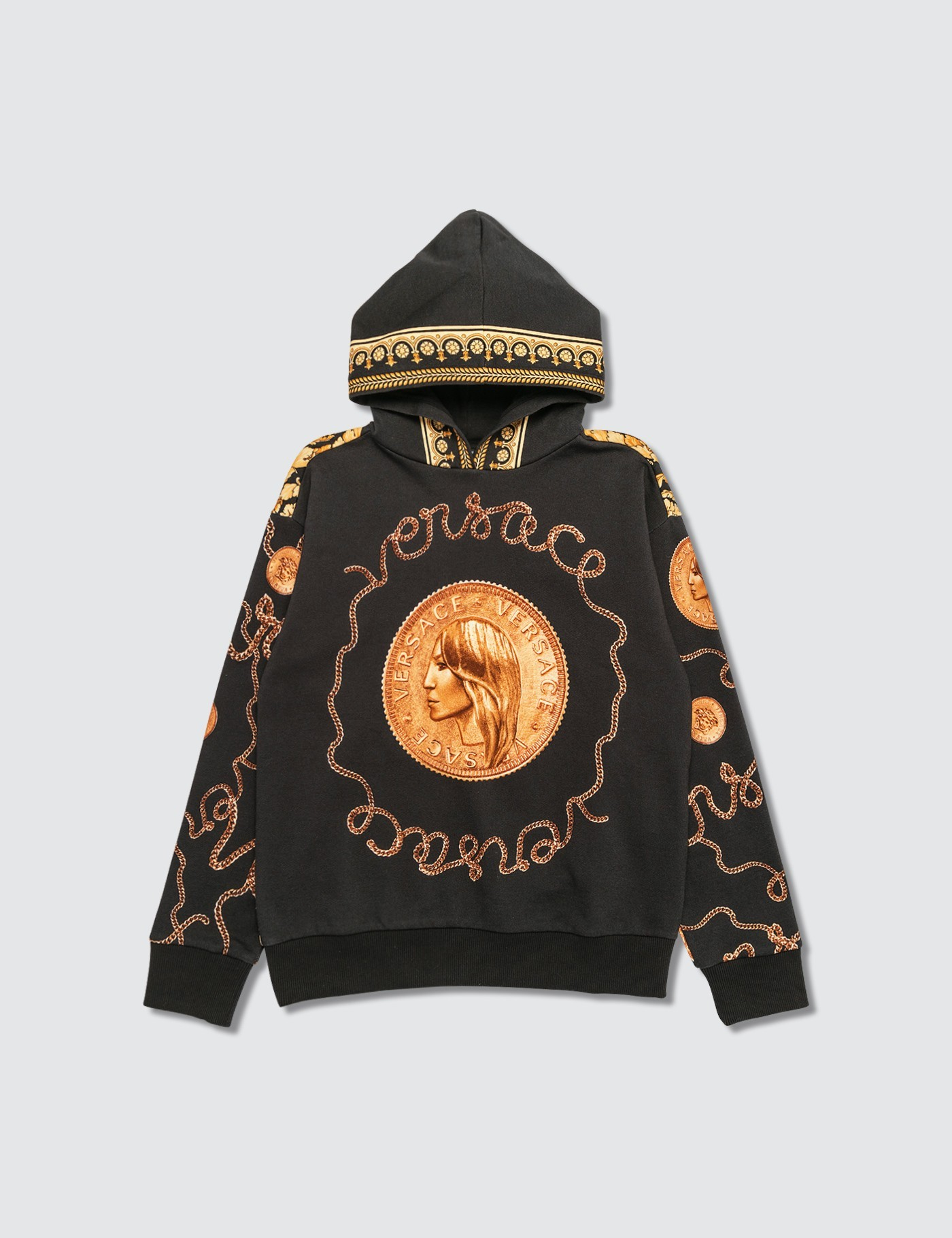Versace Top Felpa Black - Gold