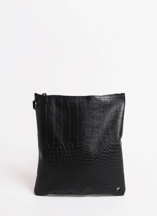 Taylor Fine Goods Pouch Lee Croco 207 Black