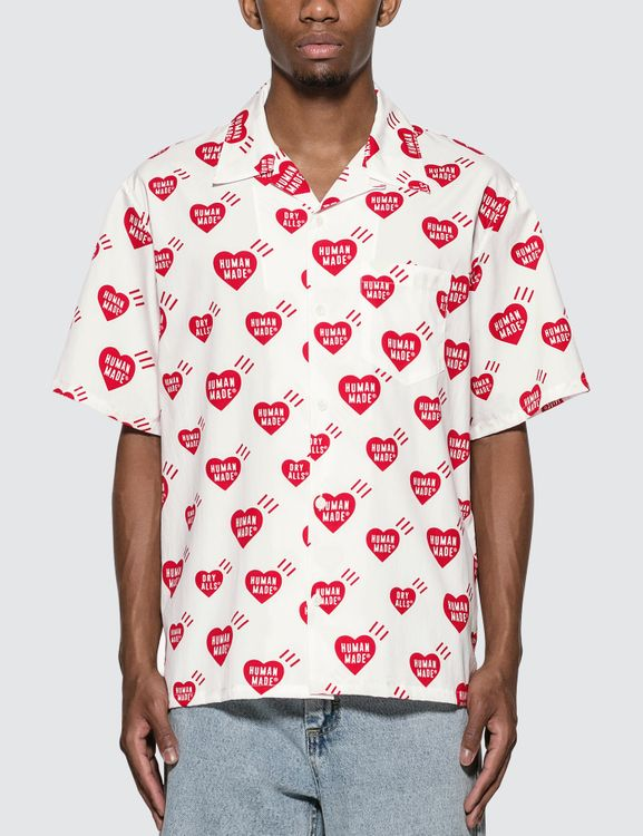 Human Made Heart Pattern Aloha Shirt