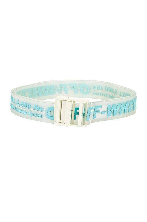 Off-White Rubber Industrial Belt