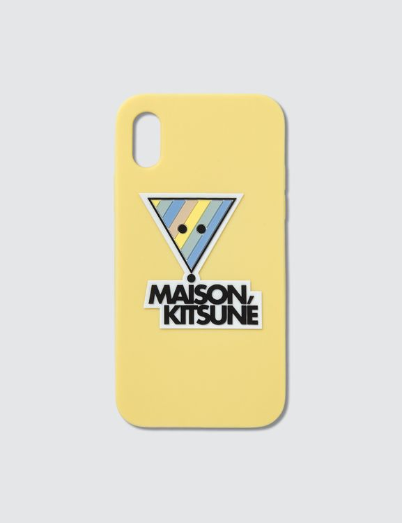 MAISON KITSUNE 3D Rainbow Triangle Fox iPhone X Case