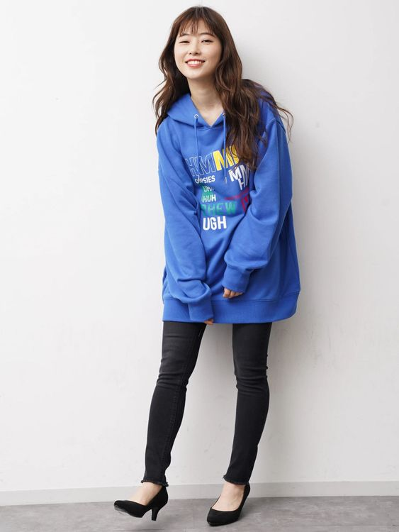 E-hyphen World Gallery Tara Hoodie - Blue