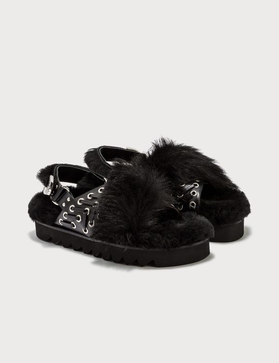 Toga Pulla Puffer Sliders With Fur