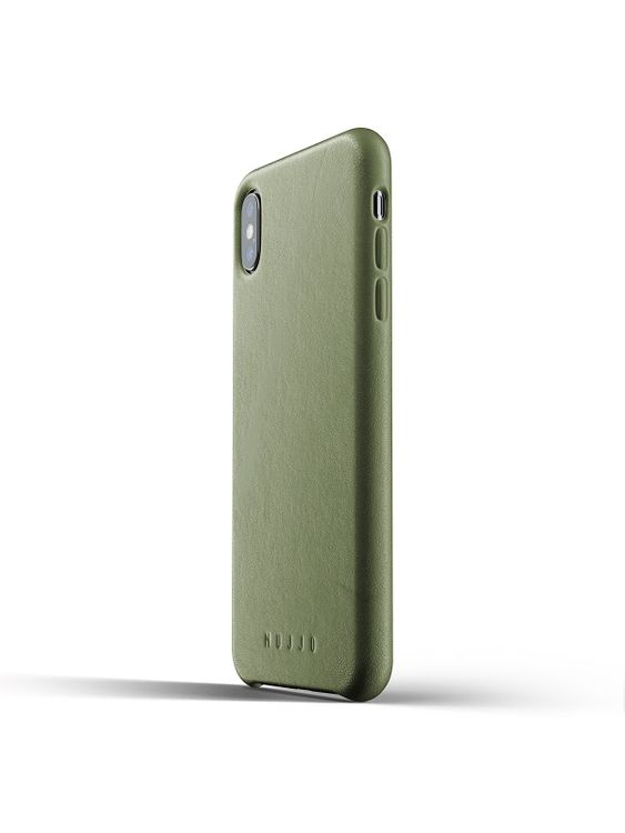 MUJJO Mujjo Full Leather Case for iPhone XS Max Olive