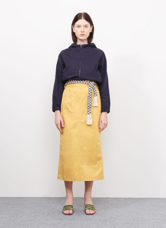 Sevendays Sunday Serra Skirt with Belt - Yellow
