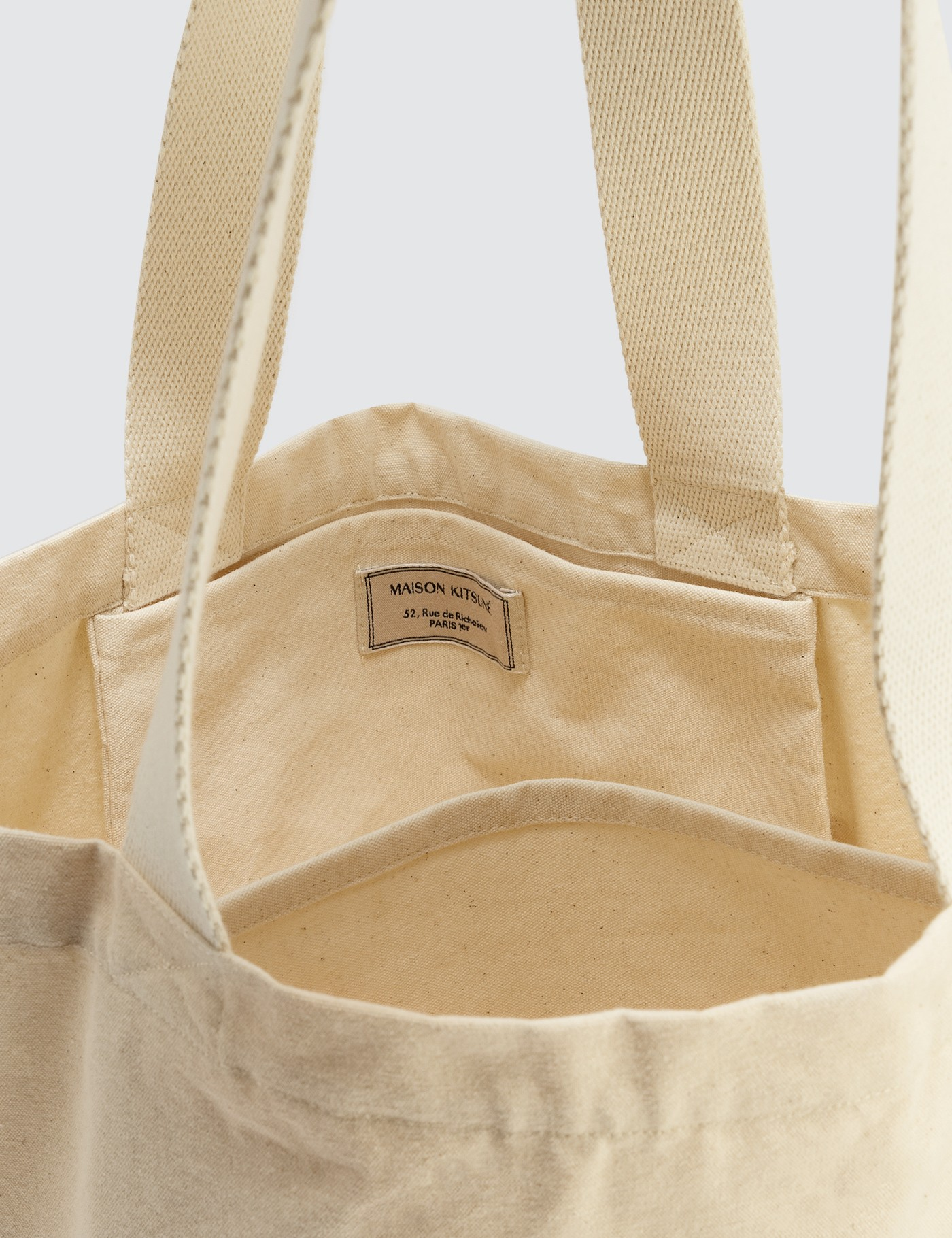 MAISON KITSUNE Fox Head Tote Bag