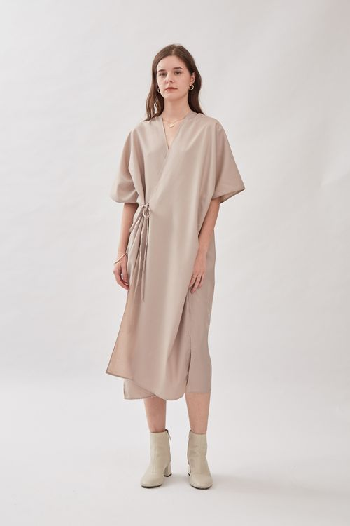 Shopatvelvet Jardine Kimono Dress in Oat
