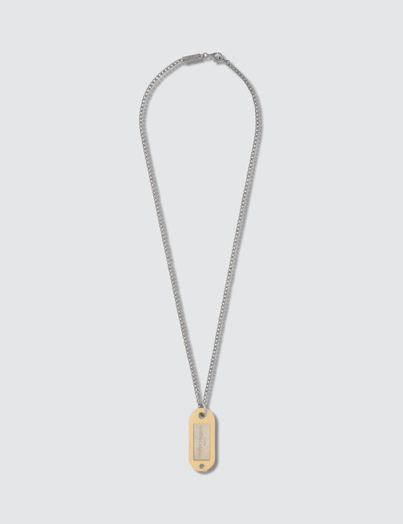 Maison Margiela Logo Dogtag Necklace