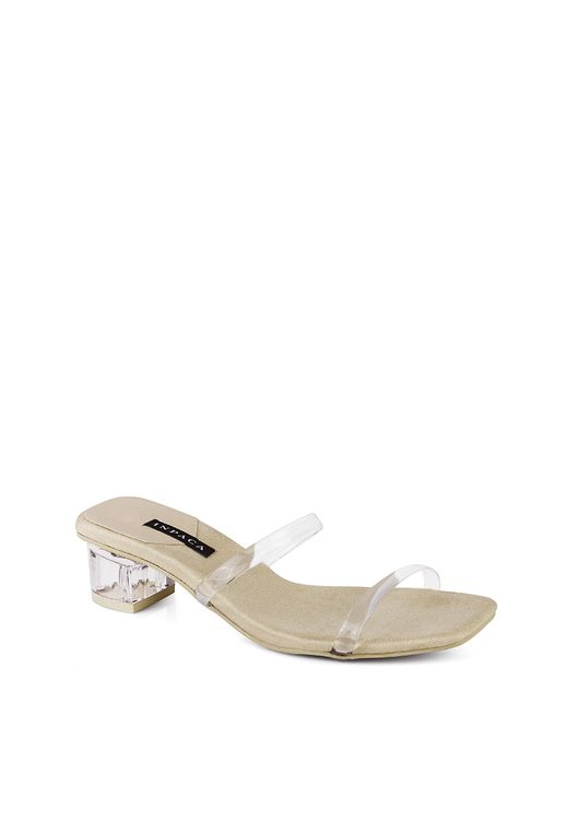 INPACA Ava low Heeled Transparent Strap Sandals