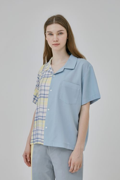 Argyle and Oxford La Lune Shirt - Blue