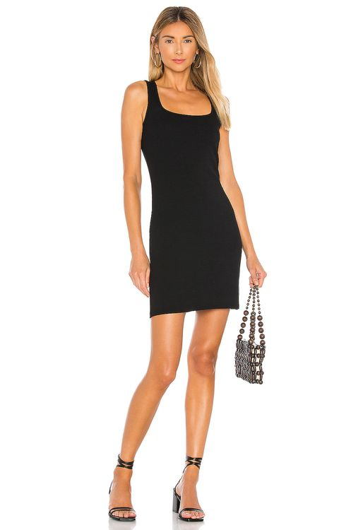 bobi Modal Spandex Rib Bodycon Mini Dress