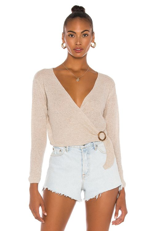 One Grey Day Benson Cross Front Top
