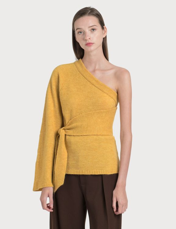 NANUSHKA Cleto Cold Shoulder Knit Pullover