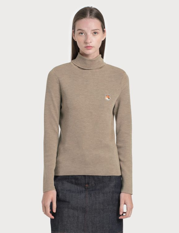 MAISON KITSUNE Fox Head Patch Turtleneck Pullover