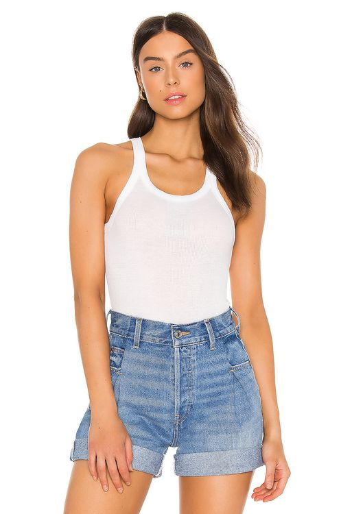 RE/DONE Ribbed Tank Bodysuit