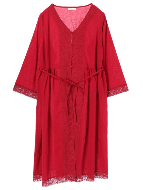 Earth, Music & Ecology Nanae Dress - Red