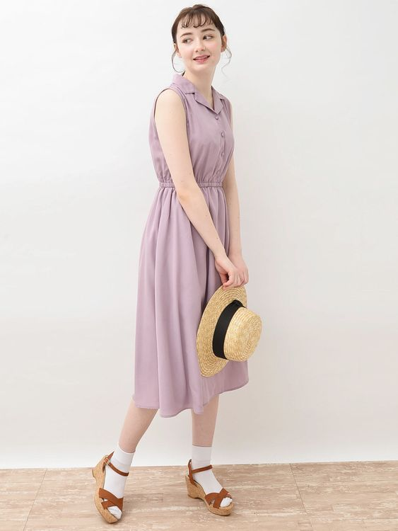 Earth, Music & Ecology Yaeko Dress - Lavender