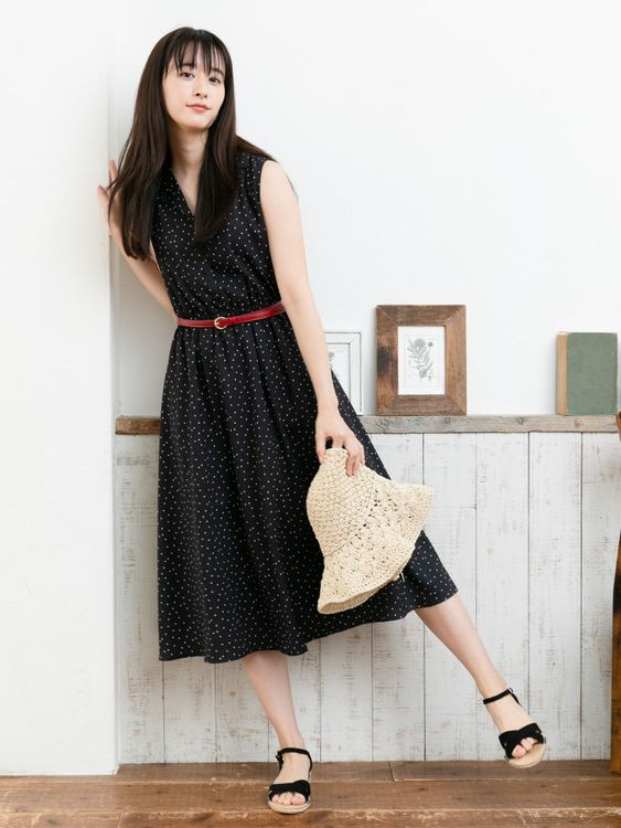 Earth, Music & Ecology Yaeko Dress  - Dot Black