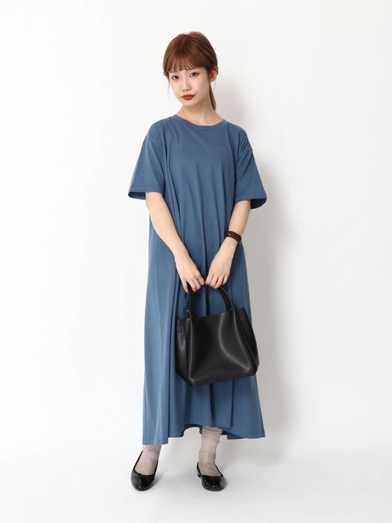 Earth, Music & Ecology Deacon Dress  - Deep Blue
