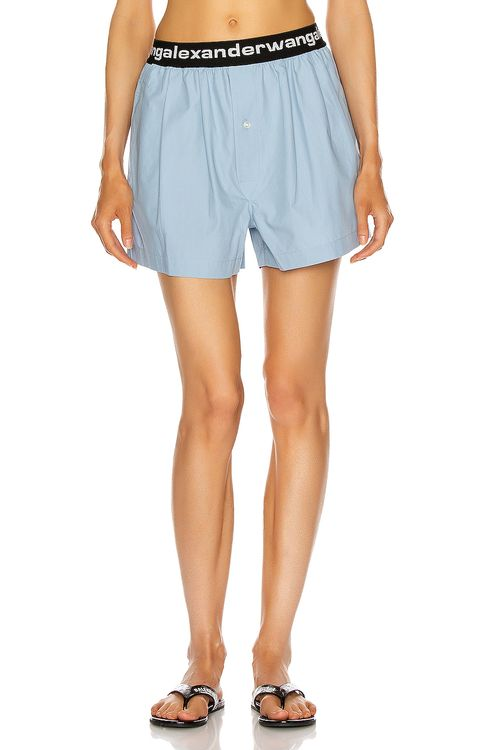T by Alexander Wang Pull On Logo Pleated Short