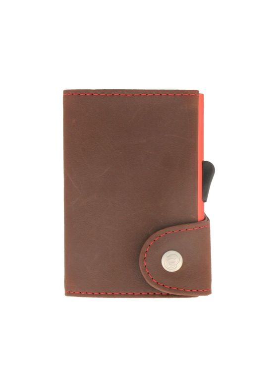 C-Secure C-Secure Italian Leather RFID Wallet Auburn