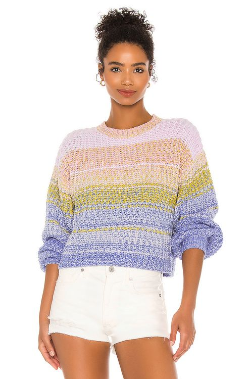 525 America Mixed Marl Pullover Sweater