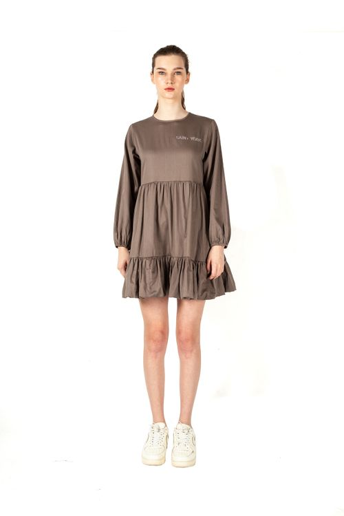 Saint York Irvine Dress Mocha Brown