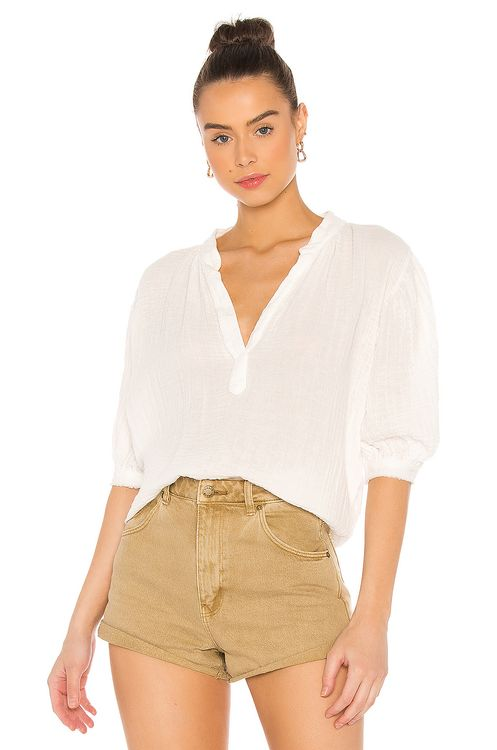 9seed Biarritz Puff Sleeve Top