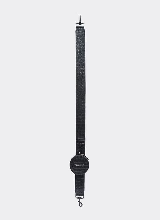 Aesthetic Pleasure Connection Strap Croc Black