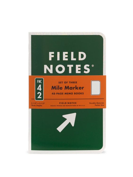 Field Notes Field Notes Mile Marker 3 Pack Dot Graph Paper
