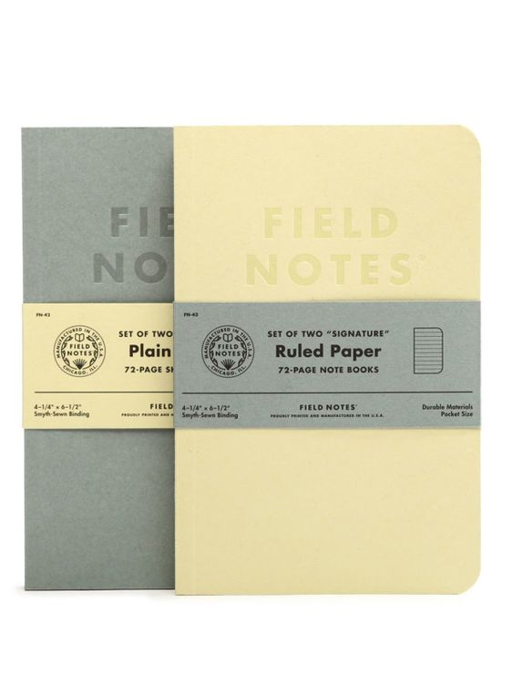 Field Notes Field Notes Signature 2 Pack Plain Paper