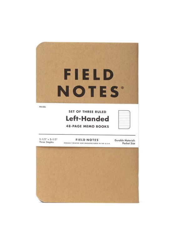 Field Notes Field Notes Left Handed 3 Pack Ruled Paper
