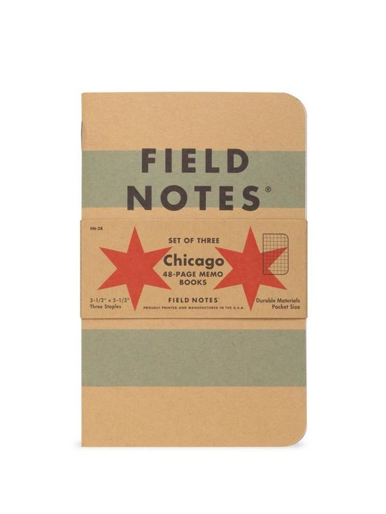 Field Notes Field Notes Chicago 3 Pack Graph Paper