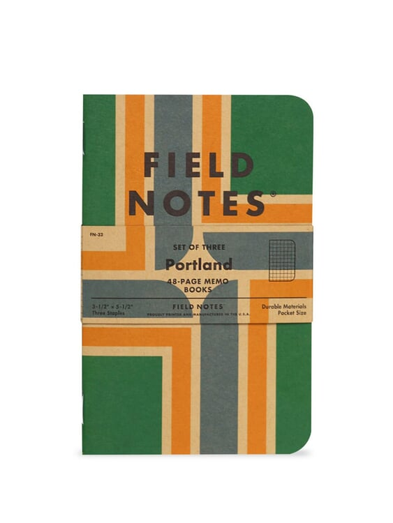 Field Notes Field Notes Portland 3 Pack Graph Paper