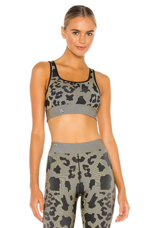 cor designed by ultracor Twill Cheetah Scoop Neck Bra
