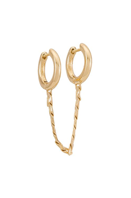 Bauble Bar 2 Hoop Chain Earring