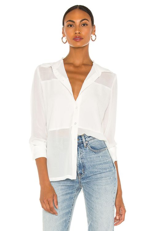 David Lerner Marlo Contrast Panelled Blouse