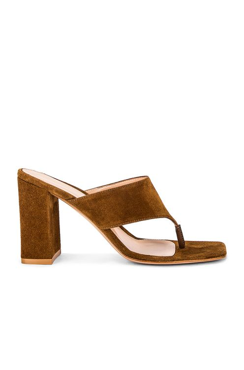 Gianvito Rossi Suede Thong Sandals