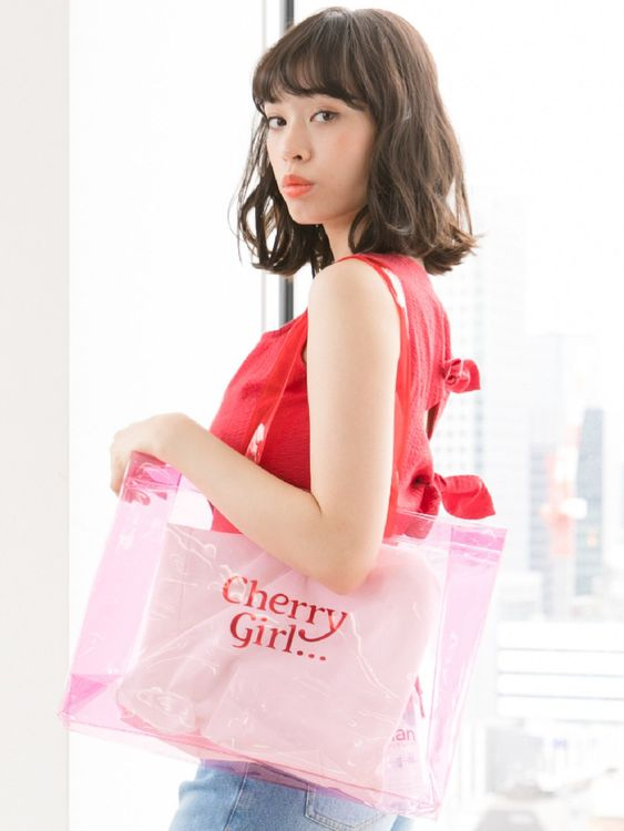 Nicoron Cherry Girl Tote Bag - Pink