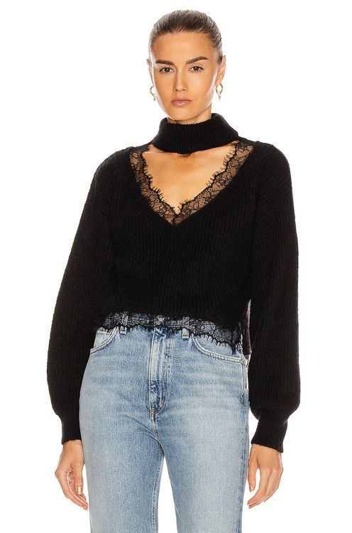 BROGNANO Lace Trim Sweater