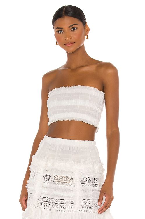 CHIO Ruched Tube Top