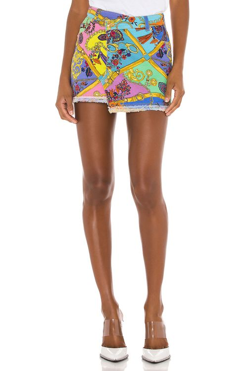 VERSACE JEANS COUTURE Paisley Mini Skirt