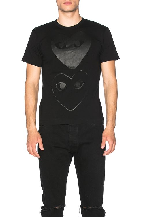 Comme Des Garcons PLAY Double Heart Cotton Tee
