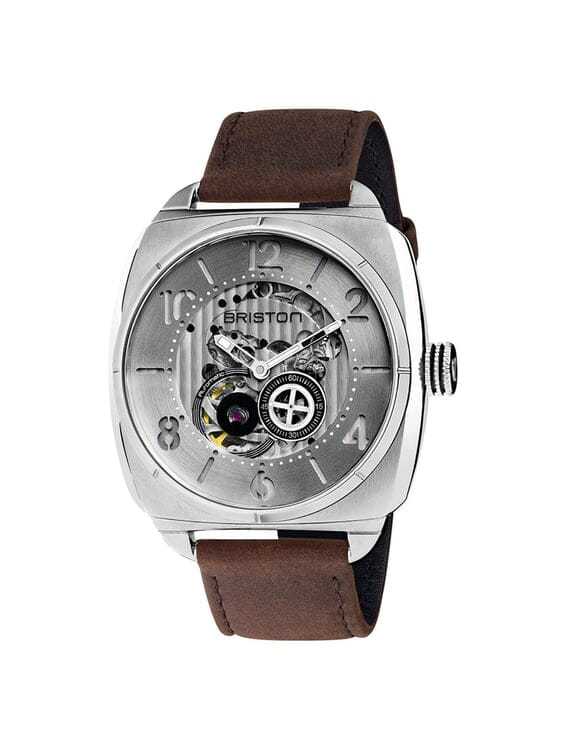 BRISTON Briston Streamliner Skeleton Automatic Steel HMS White 42mm