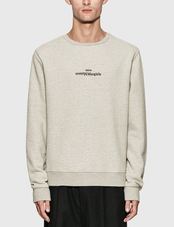 Maison Margiela Reversed Logo Embroidery Sweatshirt