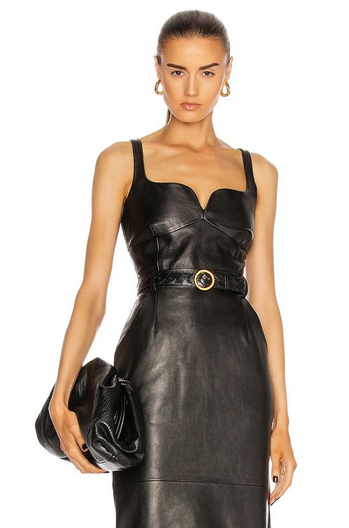 Magda Butrym Leather Bustier Top