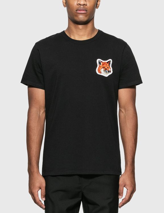 MAISON KITSUNE Velvet Fox Head Patch Classic T-Shirt
